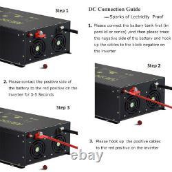 10000 Watt Pure Sine Wave Inverter 24V to 110V 220V Car Power Generator Truck RV