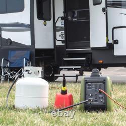 2,200/1,800-watt Dual Fuel LPG/Gasoline Powered Recoil Start Portable Inverter G