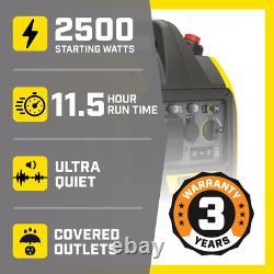 2500-Watt Recoil Start Gasoline Powered Inverter Generator With Champion 79 Cc E