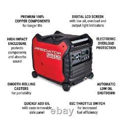 3500 WATT SUPER-QUIET INVERTER Generator Predator ELEC START US/CAN/AK/HI/PR