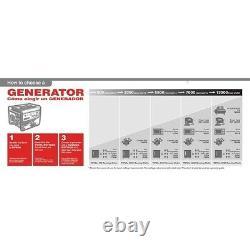 3500 Watt Inverter Generator Digital Quiet Electric Emergency Camping 57 Db