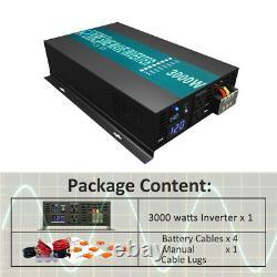 36V 120V Pure Sine Wave Inverter 3000 Watt Power Generator Car Truck Motorhome