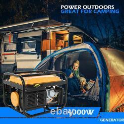 4000 Watt Gas Powered Portable Generator Engine For Jobsite RV Camping Standby