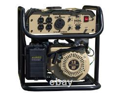 4000-Watt Recoil Start Dual Fuel Portable Generator
