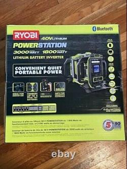 40V 1800-Watt Power Station Lithium Battery Inverter Push Start Generator/4 Port