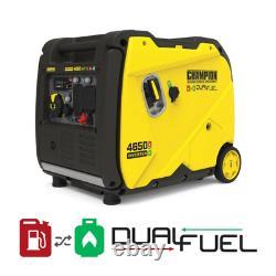 4650-Watt Electric Start Portable Gas And Propane Dual Fuel Inverter Generator W