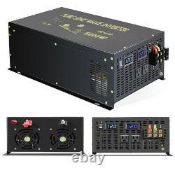 5000W Pure Sine Wave Inverter 12V Car Power DC to AC Generator Truck Camp Solar
