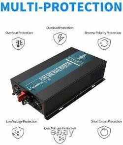 5000Watt Inverter Pure Sine Wave 12V to 120V Solar Power Generator Home System