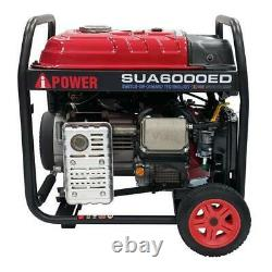 A-IPOWER 6000Watts Electric Start Dual Fuel Powered Inverter Generator