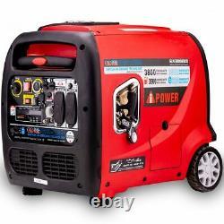 A-iPower SUA3800iED 3500 Watt Dual Fuel Electric Start Inverter Generator w