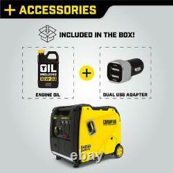 Champion 4650 Watt Inverter Generator Portable Gasoline Super Quiet Recoil Start