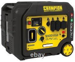 Champion 5500 Watt Inverter Generator Portable DUAL FUEL Electric Start QUIET