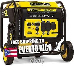 Champion 6250 Watt Inverter Generator Portable Gas 110V / 240V Quiet Wheel Kit