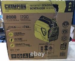 Champion Quiet Inverter Generator 2000-Watt Ultralight Portable Gas 100692 NEW