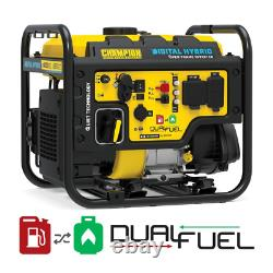 Dh 4000-Watt Recoil Start Dual Fuel Powered Open Frame Inverter Generator With 2