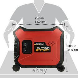 DuraDrive DP3500 3,500-Watt 212cc Ultra-Quiet 4-Stroke Inverter Generator