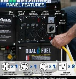 DuroMax XP12000EH 12,000-Watt 457cc Portable Hybrid Gas Propane Generator NEW