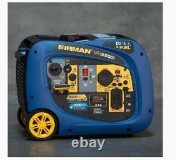 Firman WH03041 Whisper Series Inverter Generator, 3300 Watts Gasoline/Propane