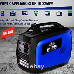Hike Crew HCIG2250 Portable Inverter Generator 2250 Watt Super Quiet Outdoor