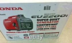 Honda EU2200ITAG Portable Inverter Generator 2200 Surge Watts New in Box EU2200i