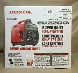 Honda EU2200i 2200-Watt Recoil Start Gasoline Powered Inverter Generator 20A Out