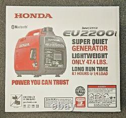 Honda eu2200i 2,200 Watt Portable Gas Inverter Generator with Bluetooth New