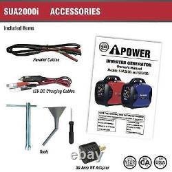 NEW A-iPower SUA2000iV 2000 Watt Portable Inverter Generator Quiet Operation