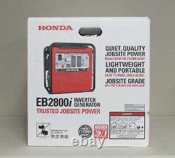 NEW Honda 2800-Watt Gasoline Powered Industrial Inverter Generator EB2800IAG