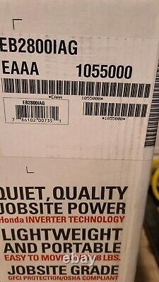 NEW Honda EB2800I 2800 Watts Generator Brand New In Box. 4 OUTLETS! QUIET