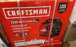 New Craftsman Portable Inverter/generator 2200 Watts Cmxgiac2500
