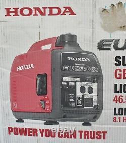 New Honda EU2200i 2200-Watt Recoil Start Gasoline Powered Inverter Generator 20A