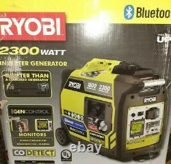 New Ryobi 2300-Watt Gasoline Powered Bluetooth Generator