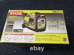 New Ryobi 2300-Watt Gasoline Powered Bluetooth Inverter Generator RYi2322VNM