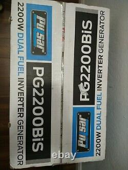 Pulsar 2200 Watt Portable Dual Fuel Gas Propane Inverter Generator PG2200Bis