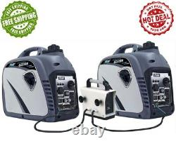 Pulsar 2300 Peak Watts Portable Gas-Powered Quiet Inverter Generator w USB Port