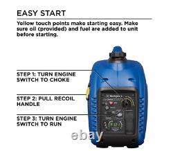 Quiet Gas Powered Inverter Generator with LED Display iGen2500 2,500/2,200-Watt