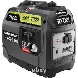RYOBI 2,000-Watt Gray Gasoline Powered Digital Inverter Generator