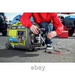 RYOBI Inverter Generator 18V Bluetooth 2,300-Watt Electric Start Gas Digital
