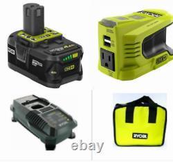 RYOBI RYi150BG 150Watt Powered Inverter Generator 18V With4 Ah Battery, Charger, Bag