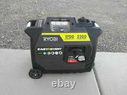Ryobi 2,200 Starting Watt Gray Gasoline Powered Digital Inverter Generator