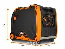 WEN 3,800-Watt Quiet Portable Gas Powered Inverter Generator with Electric Start