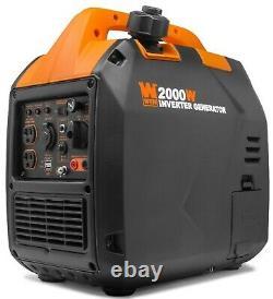 WEN 56203i Super Quiet 2000-Watt Portable Inverter Generator with Fuel Shut Off