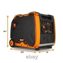 WEN 56380i Super Quiet 3800 Watt Portable Inverter Generator with Electric Start