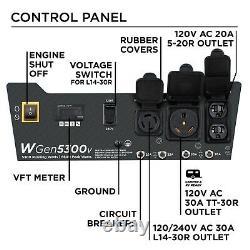 Westinghouse WGen5300v Portable Generator 5300 Rated Watts & 6600 Peak Watts