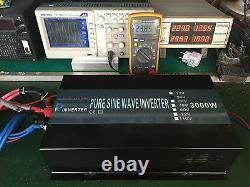 36v 120v Pure Sine Wave Onduleur 3000 Watt Générateur De Puissance Voiture Motorhome