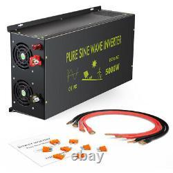 5000w Pure Sinus Wave Inverter 12v Voiture Puissance DC À Ac Générateur Camion Camp Solaire