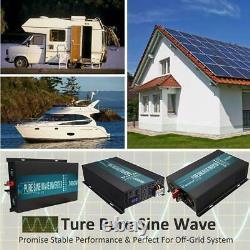 5000watt Inverter Pure Sine Wave 12v À 120v Générateur D'énergie Solaire À La Maison