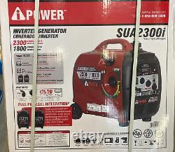 A-ipower Sua2300i Portable 2300-watt Générateur D'onduleur Alimenté Par L'essence-nouveau