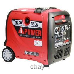 Aipower 3800 Watts Recul Démarrer Générateur D'onduleur Alimenté À L'essence Sua3800i