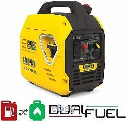 Champion 2000 Watt Du Double Générateur D'onduleur De Carburant Ultralight Super Quiet Portable